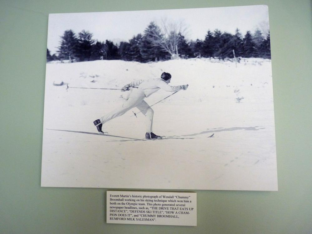 "A vintage photo of ""Chummy"" on display at the Black Mountain Ski Museum. (Sam Evans-Brown)"