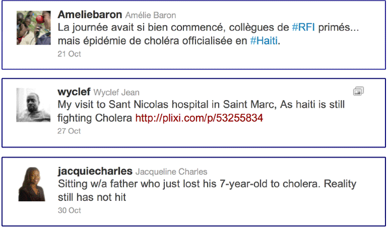 Tweets From An Epidemic, Oct. 2010