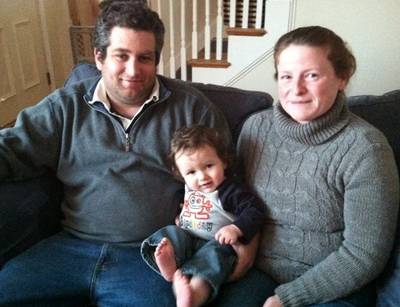 Nate Lawrence underwent induced pediatric hypothermia at birth. Here he is, at 1, with his parents, Elizabeth and TJ.