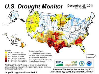 The latest map from the National Drought Mitigation Center. (National Drought Mitigation Center)