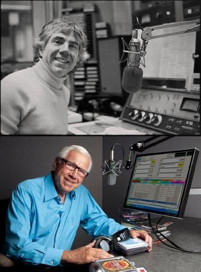 Ron Della Chiesa on the air, past and present. (Ron Della Chiesa/Facebook)