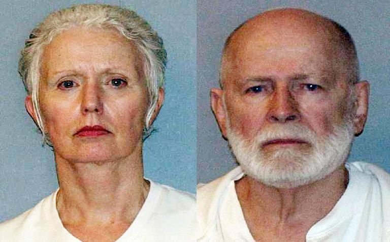Booking photos for Catherine Greig and Whitey Bulger taken in the summer of 2011. (U.S. Marshals Service/AP)