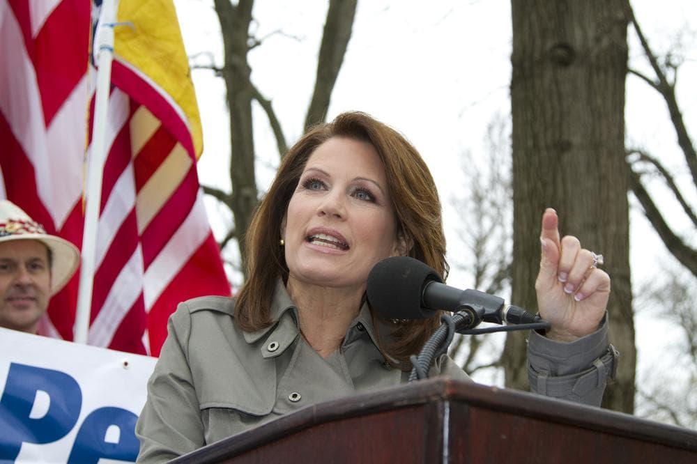 Michelle Bachman speaking (markn3tel/flickr)