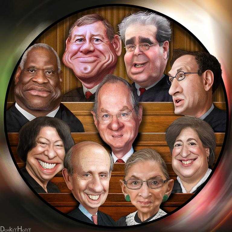 The Supreme Court Justices (DonkeyHotey/Flickr)