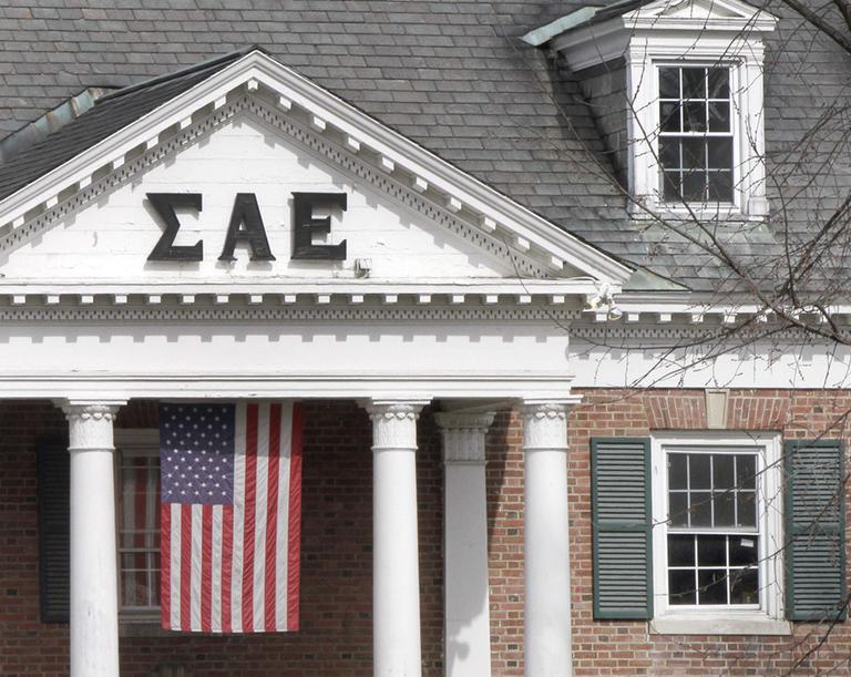 The Sigma Alpha Epsilon fraternity on the Dartmouth College campus in Hanover, N.H. (AP)