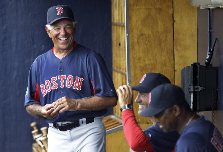 c4038850591 Boston Red Sox manager Bobby Valentine during a spring training baseball  game against the New York
