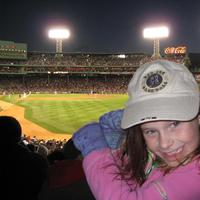 Bridget's first trip to Fenway Park, May 19, 2008. (Courtesy of Kristin Wixted)