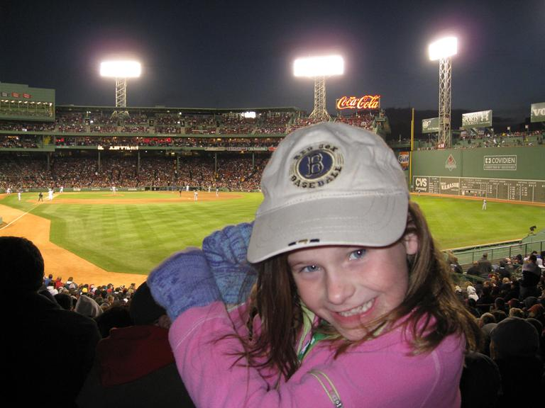 Bridget Wixted's first trip to Fenway Park, May 19, 2008. (Courtesy of Kristen Wixted)