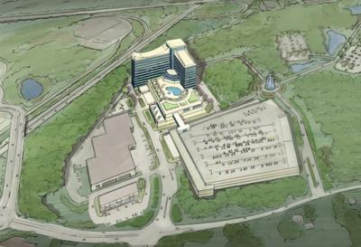 An artist's rendering of the proposed Mashpee Wampanoag casino in Taunton (Courtesy)