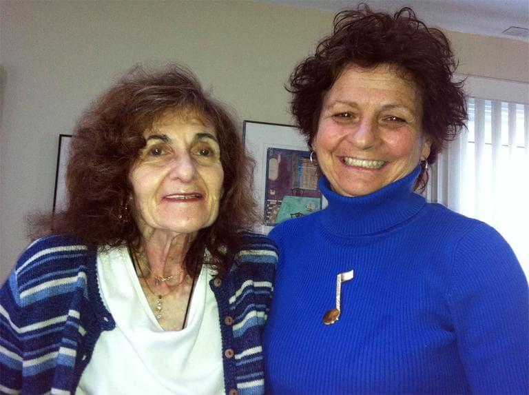 Patient Sue Beder, left, and Senior Whole Health nurse Judy Tremblay (Martha Bebinger/WBUR)