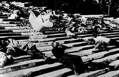 "The Odessa Steps sequence from ""Battleship Potemkin."" (Photograph: Kobal)"