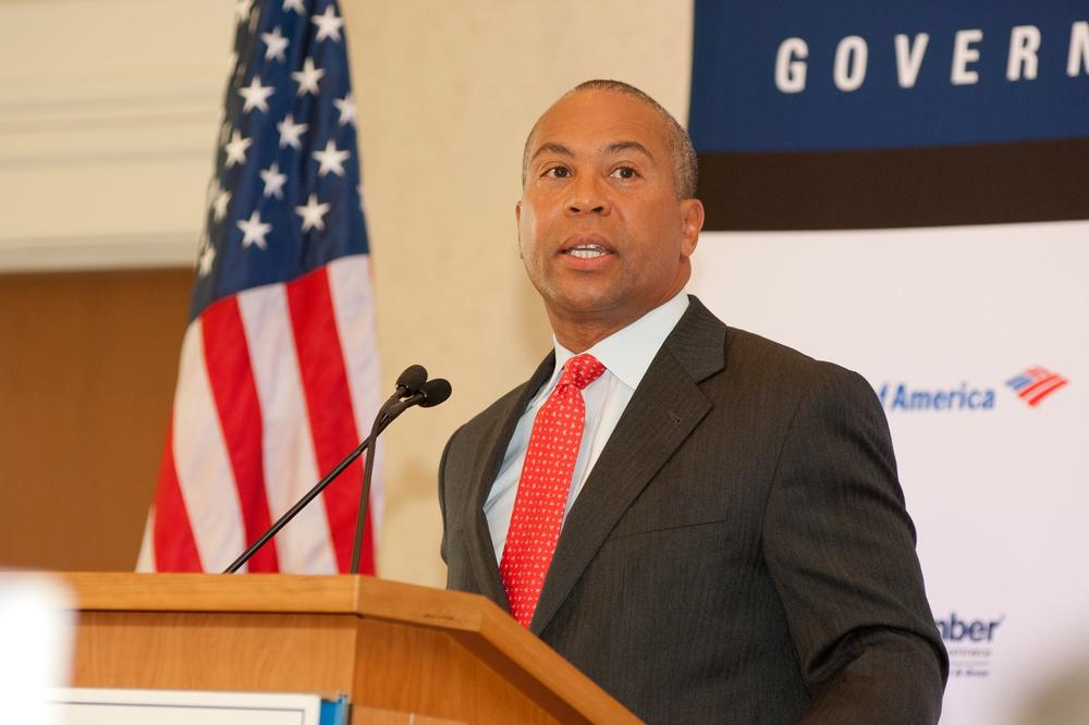 Governor Deval Patrick addresses members of the Greater Boston Chamber of Commerce Photo courtesy of the Chamber