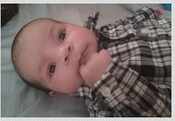 Brady Alcaide died of pertussis at the age of two-months. His parents are now trying to raise awareness about the disease. (Courtesy: Kathy Riffenburg)
