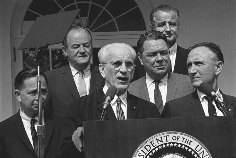 Former Southie Rep. John McCormack was a neighbor of the Bulger family. (Courtesy of the Lyndon B. Johnson Library)
