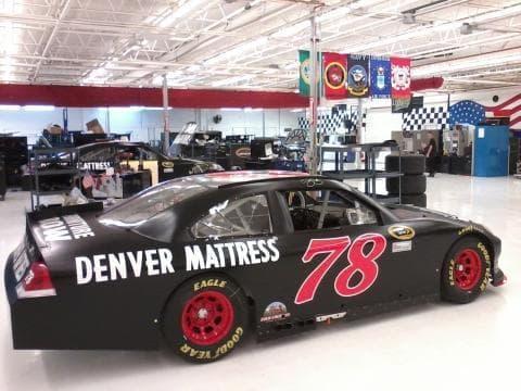 A Furniture Row Racinig #78 Chevrolet Impala Sits In The Teamu0027s Denver, CO  Shop