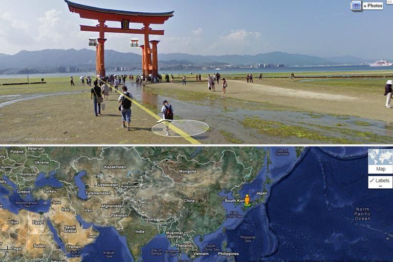Itsukushima Shinto Shrine, Japan. (Google Maps)