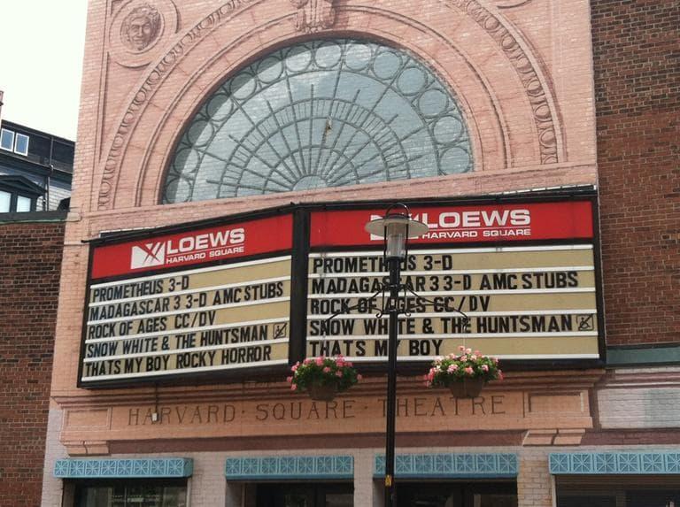 AMC Loews movie theater in Harvard Square (Andrea Shea/WBUR)