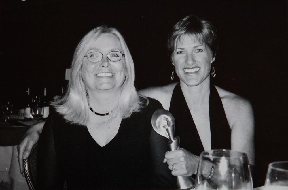 Beth Kidwell, editor at NECN, with MacLeod at a Gracie Awards ceremony in New York. (Courtesy)