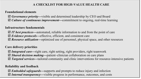 (IOM — The CEO Checklist)