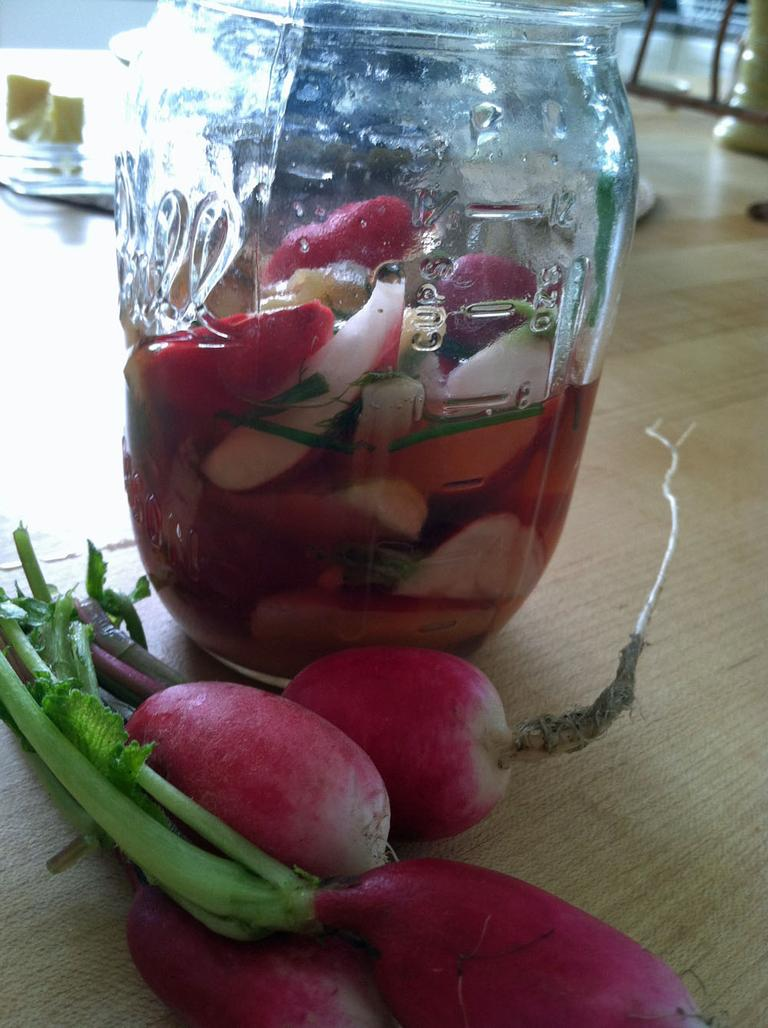 Kathy Gunst's Ginger-Scented Pickled Radishes. (Kathy Gunst/Here & Now)
