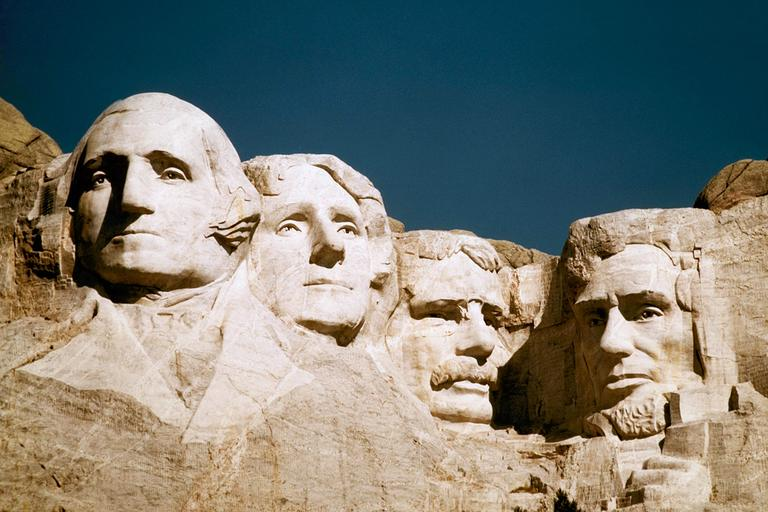 Mount Rushmore, from left: George Washington, Thomas Jefferson, Teddy Roosevelt and Abraham Lincoln (AP)