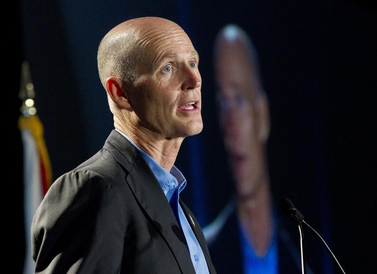 Florida Governor Rick Scott says his state will not take part in the Medicaid expansion program under President Obama's Affordable Care Act. (AP)
