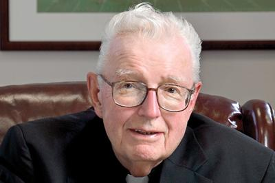 Father John Brooks. (Courtesy College of the Holy Cross)