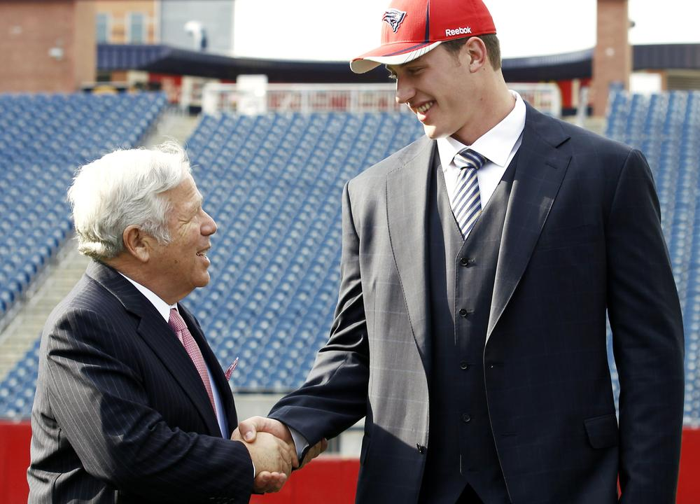 Nate Solder was already a big guy when Patriots' owner Bob Kraft welcomed him to Gillette Stadium last April. To pack on a few extra pounds this off-season, Solder turned to a personal chef. (AP)