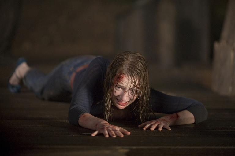 "In this film image released by Lionsgate, Kristen Connolly is shown in a scene from ""The Cabin in the Woods."" (AP)"