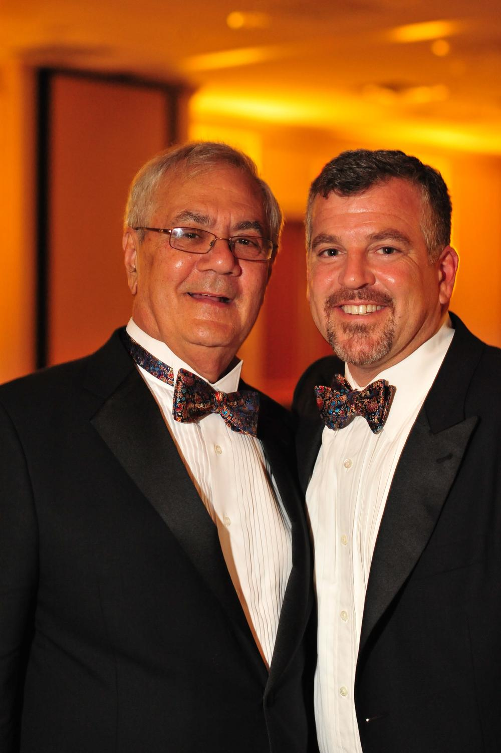Rep. Barney Frank, left, married his longtime partner Jim Ready in Newton Saturday night. (AP)