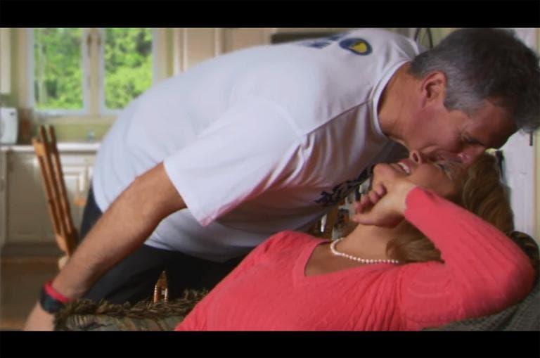 A screenshot from Sen. Scott Brown's TV ad. (YouTube)
