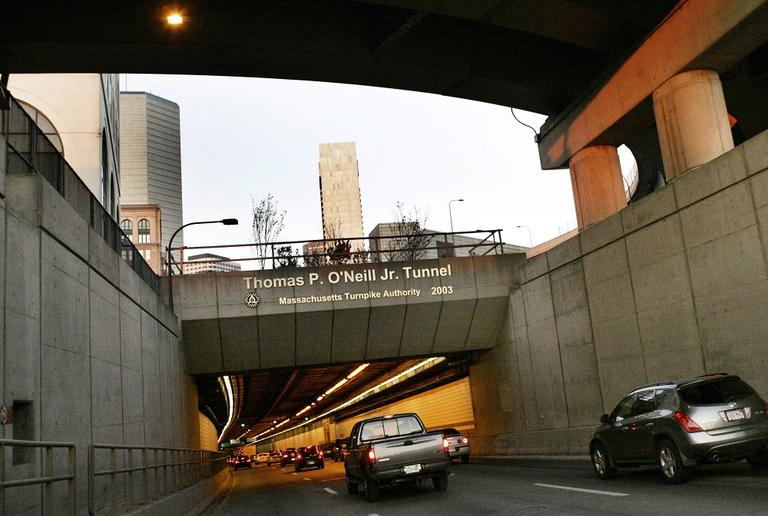 Traffic enters the Thomas P. O'Neill Jr. Tunnel, the major component of the Big Dig, Saturday Dec. 8, 2007, in Boston. (AP)