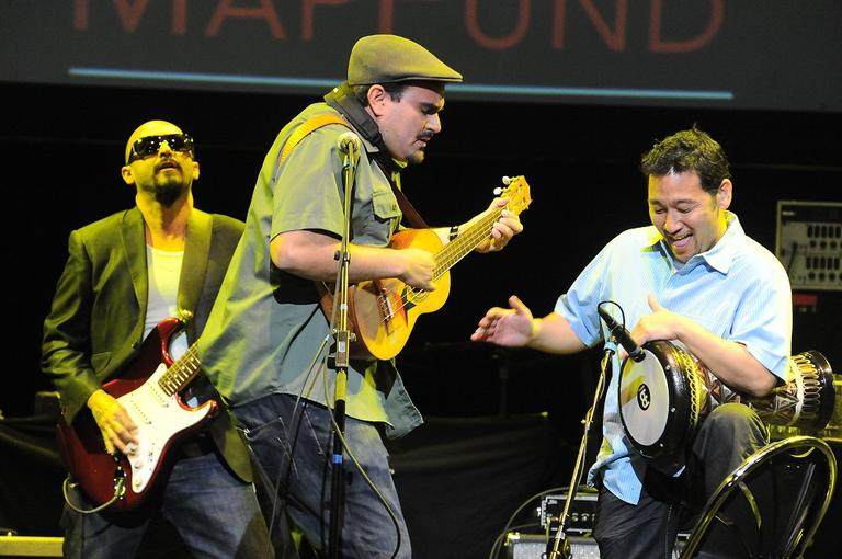 Ozomatli performs live at Musicares Mapfund Benefit Concert at Club Nokia on Friday May 6, 2011, in Los Angeles. (AP)