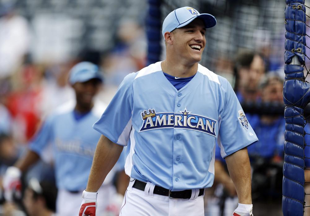 The Angels' Mike Trout has the chance to be the third player ever to be named Rookie of the Year and Most Valuable Player in the same year. (AP)