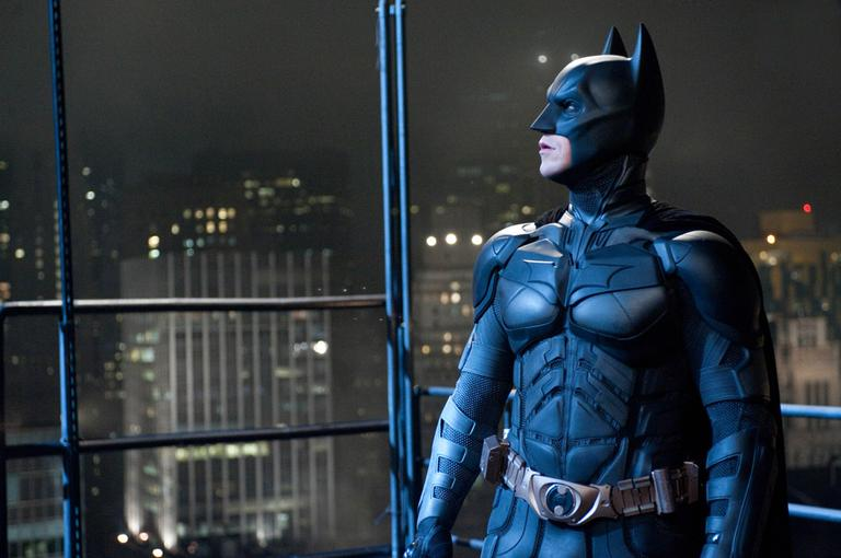 "Christian Bale portrays Bruce Wayne and Batman in a scene from ""The Dark Knight Rises."" (AP/Warner Bros)"