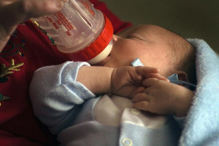 Massachusetts has now banned free gifts of baby formula to new mothers (AP)