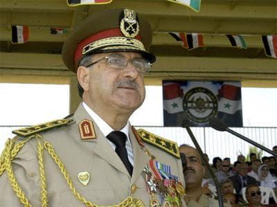 Syrian Defense Minister Gen. Dawoud Rajha last September. (Syrian Arab News Agency / AFP/Getty Images)