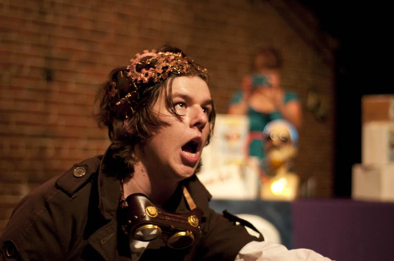 "Zach Winston in ""True Believers"" (Courtesy Vagabond Theatre Group/Paul Cantillon)"