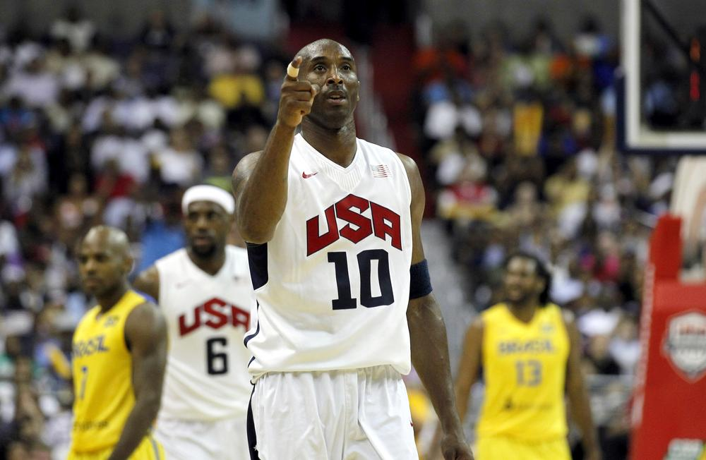 Kobe Bryant thinks the current Olympic team would get the best of the 1992 Dream Team. Almost everyone, including most Dream Team members, disagree. (AP)