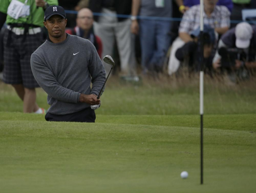 Tiger Woods is in the hunt at the British Open. If he wins, he'll be the 16th champion in the last 16 major golf tournaments. (AP)