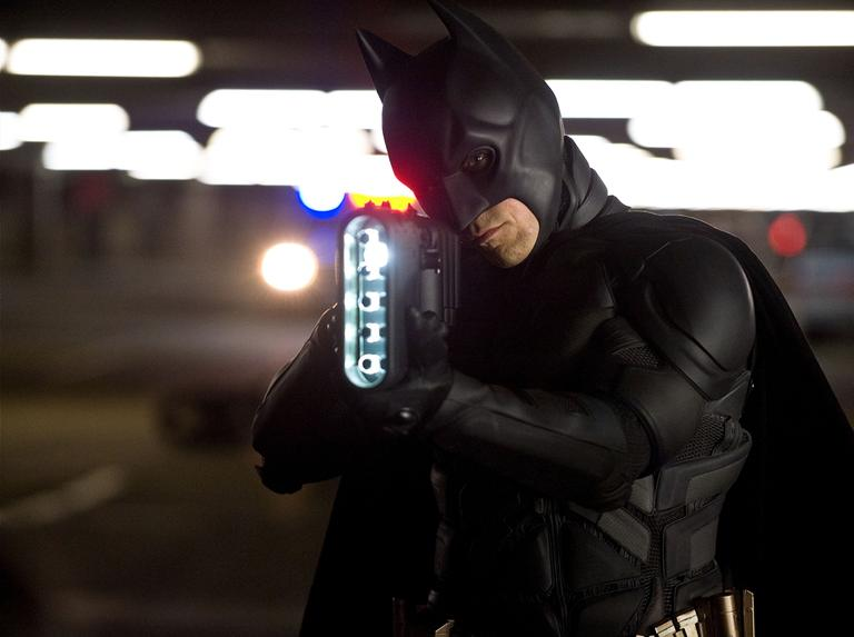 """Christian Bale as Batman in a scene from the action thriller """"The Dark Knight Rises."""" (AP/Warner Bros. Pictures, Ron Phillips)"""