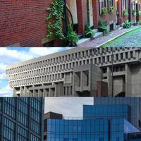 Historic Boston was built of brick, a legacy that gave way in the '60s to the so-called Brutalist style – and now to big, boring boxes. Is there a better way? (Photos: NilmaBoston/flickr, adecusatis/flickr, mattystevenson/flickr)