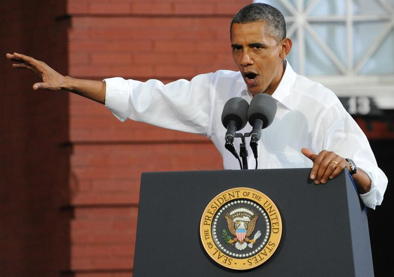 """The speech President Obama gave at a campaign stop in Roanoke, Va. on July 13 has become known as the """"you didn't build that"""" speech. (AP)"""
