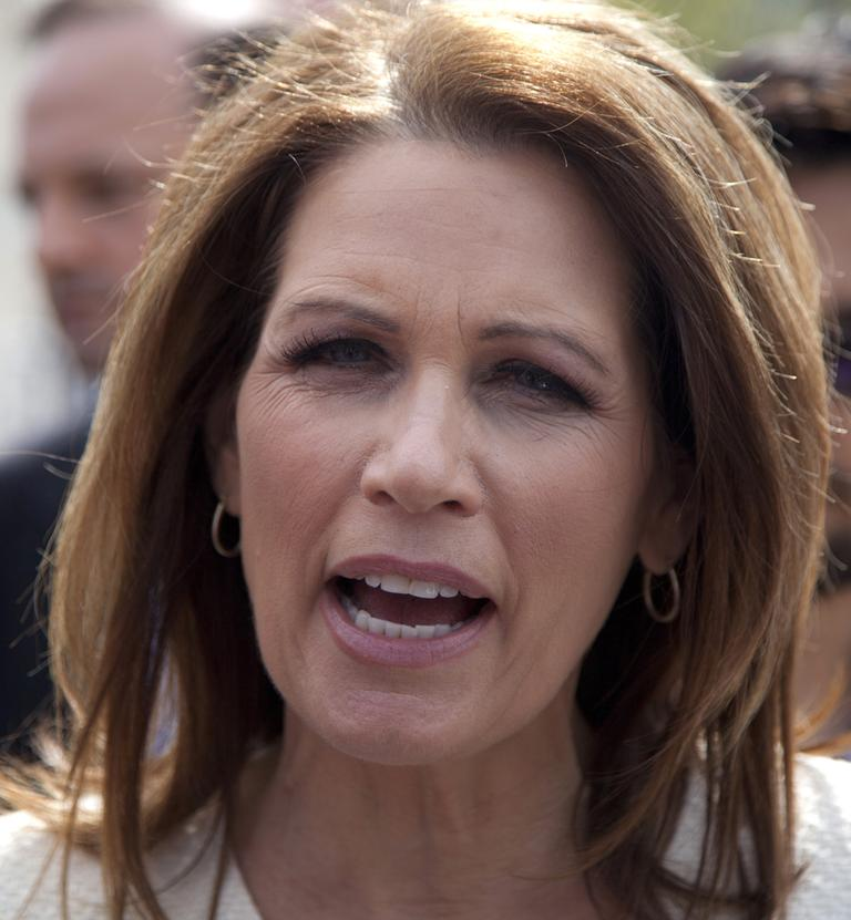 Rep. Michele Bachmann, R-Minn., is creating a debate in her party over claims about an aide to Secretary of State Hillary Clinton. (AP/Carolyn Kaster)
