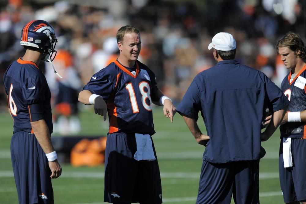 Peyton Manning is a Denver Bronco now, and fans are showing up in record numbers to see him practice at training camp. Would our Charlie Pierce be one of them? (AP)