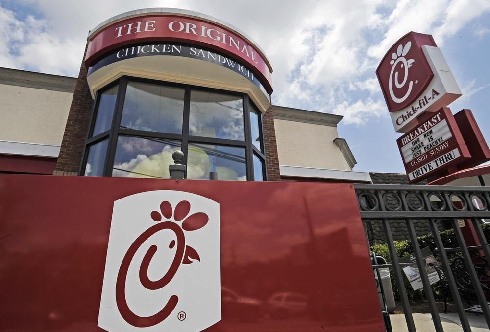 Fast food restaurant Chick-fil-A finds itself on the front lines of the nation's culture wars after its president, Dan Cathy, recently took a hard stance on gay marriage. (AP Photo)