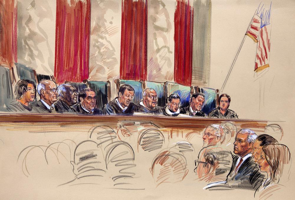 Marc Landy: Though largely overlooked, the Supreme Court's curbing of federal power to coerce the states restores a much-needed balance of power. Artist rendering of the Supreme Court on the day it handed down its decision on health care, Thursday, June 28, 2012. (AP)