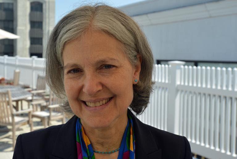 Green Party Presidential candidate Jill Stein at WBUR. (Alex Kingsbury/WBUR)