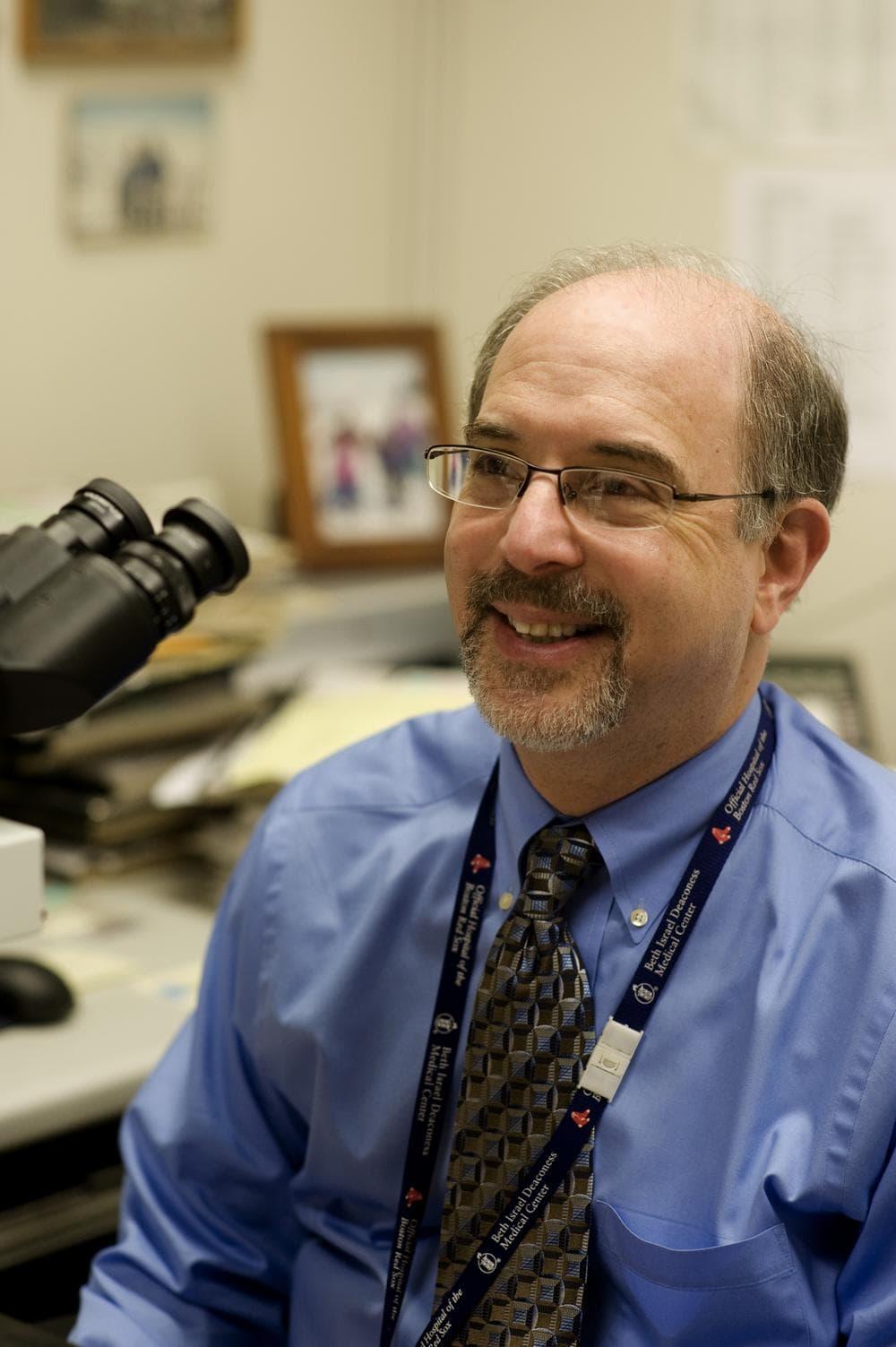 Pathologist Stuart Schnitt (Bruce Wahl/BIDMC Media Services.)