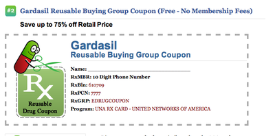An example of a drug coupon on internetdrugcoupons.com